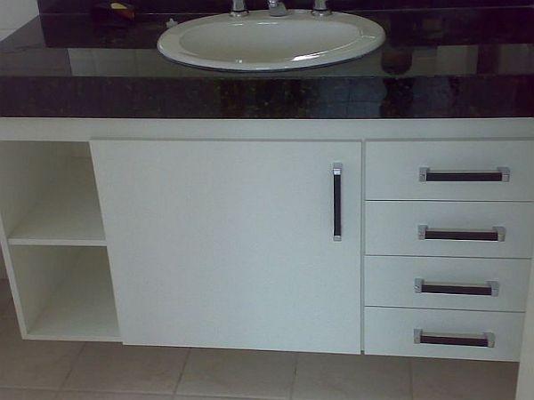 gabinete de banheiro 100%mdf  klmoveis -> Como Fazer Um Armario De Banheiro De Mdf